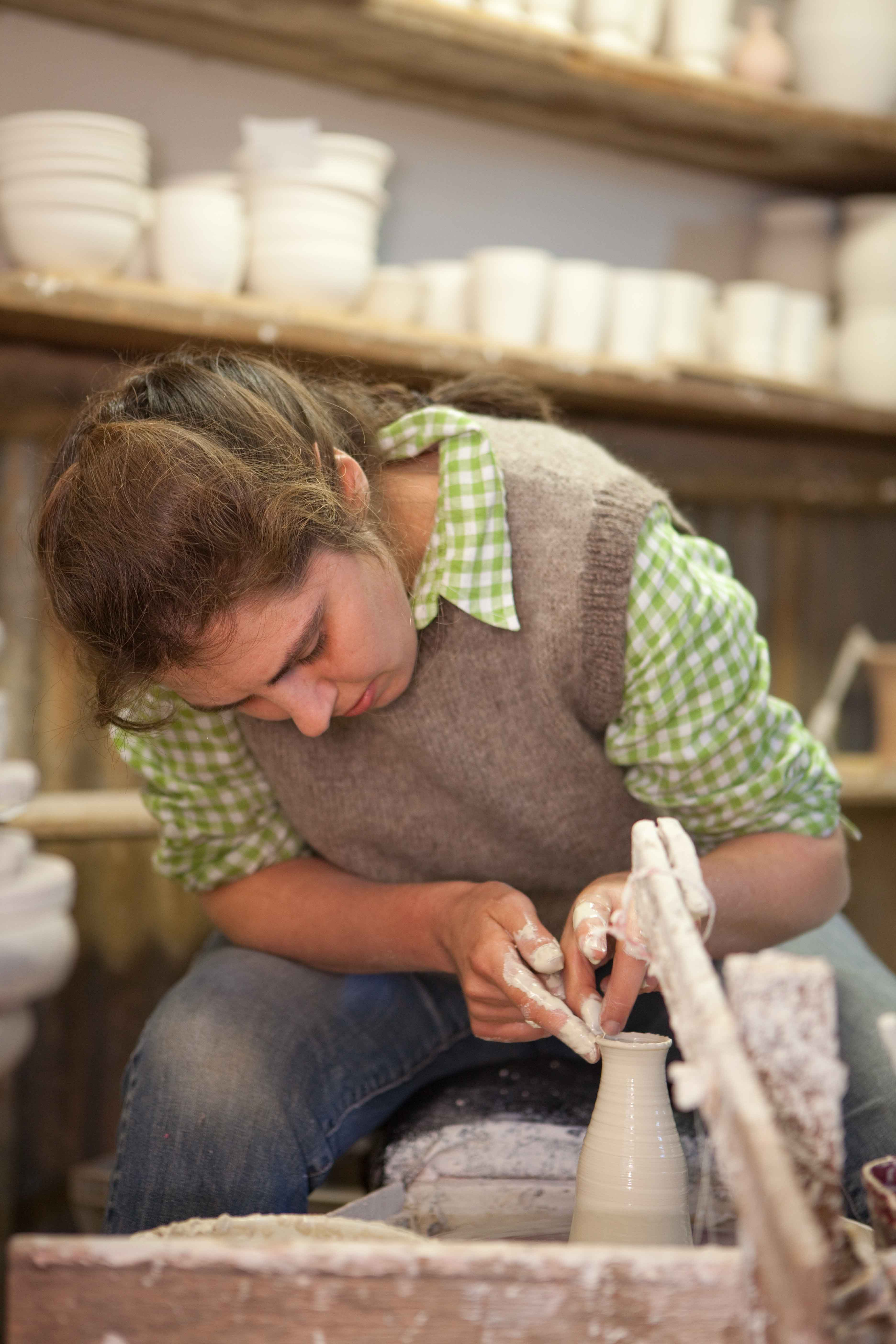 Our pottery is handcrafted  by 3rd generation potter, Kate